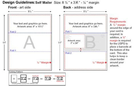 Tri Fold Self Mailer Template Zrom Tk